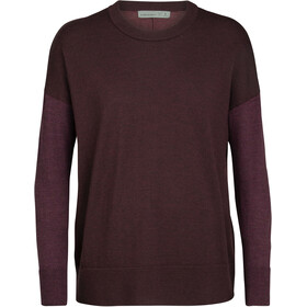 Icebreaker Shearer Sweat Col Ras-Du-Cou Femme, merlot heather